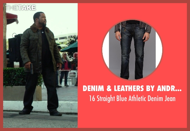 Denim & Leathers by Andrew Marc blue jean from Ride Along seen with Ice Cube (James Payton)