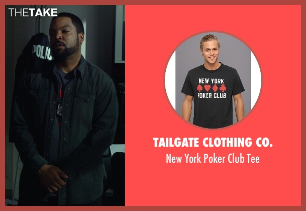 Tailgate Clothing Co. gray tee from Ride Along seen with Ice Cube (James Payton)