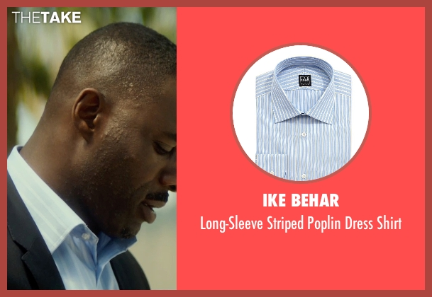 Ike Behar blue shirt from The Gunman seen with Idris Elba (Unknown Character)