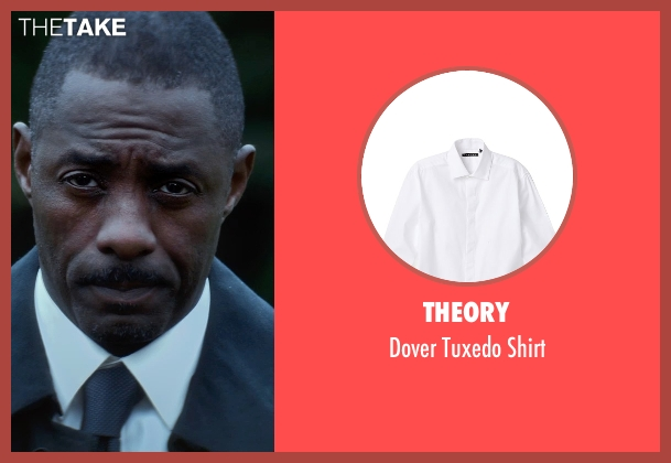 Theory white shirt from The Gunman seen with Idris Elba (DuPont)