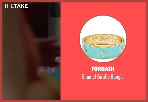 Fornash blue bangle from Knock Knock seen with Ignacia Allamand (Karen Alvarado)
