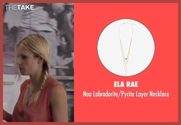 Ela Rae gold necklace from Knock Knock seen with Ignacia Allamand (Karen Alvarado)