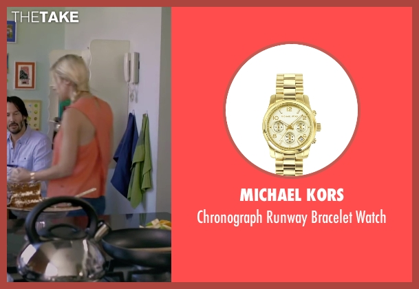 Michael Kors gold watch from Knock Knock seen with Ignacia Allamand (Karen Alvarado)
