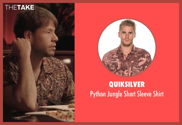 Quiksilver brown shirt from Neighbors 2: Sorority Rising seen with Ike Barinholtz (Jimmy)