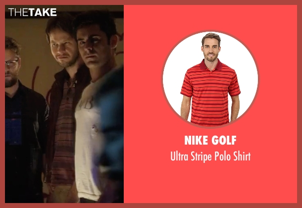 Nike Golf red shirt from Neighbors 2: Sorority Rising seen with Ike Barinholtz (Jimmy)