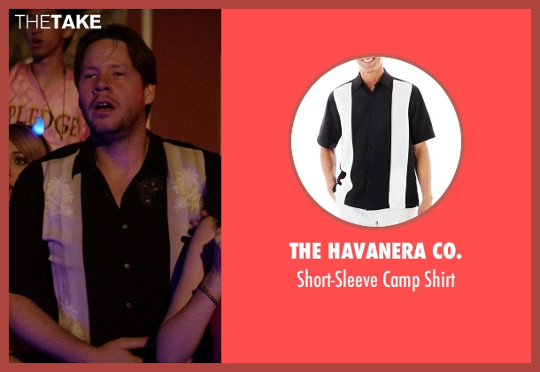 The Havanera Co. black shirt from Neighbors seen with Ike Barinholtz (Jimmy)