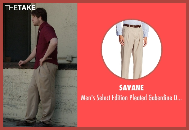 Savane brown pant from Neighbors seen with Ike Barinholtz (Jimmy)