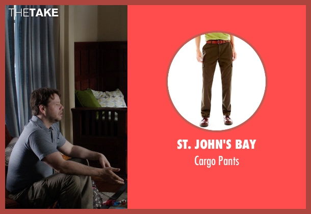 St. John's Bay brown pants from Neighbors seen with Ike Barinholtz (Jimmy)
