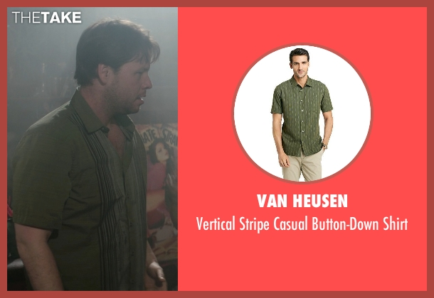 Van Heusen green shirt from Neighbors seen with Ike Barinholtz (Jimmy)