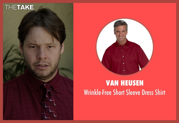 Van Heusen red shirt from Neighbors seen with Ike Barinholtz (Jimmy)