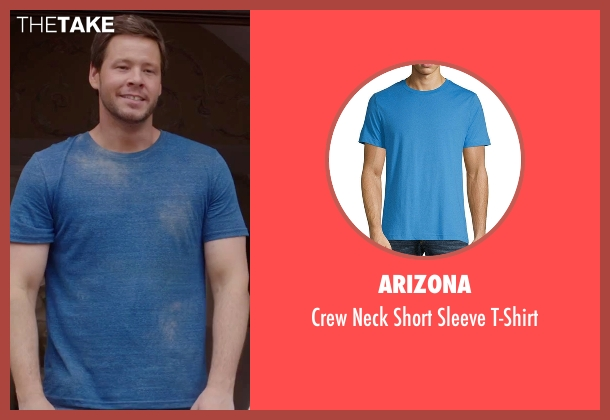Billy Reid blue t-shirt from Sisters seen with Ike Barinholtz (James)