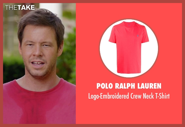 Calvin Klein red t-shirt from Sisters seen with Ike Barinholtz (James)