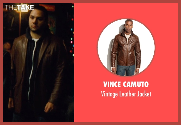 Vince Camuto brown jacket from Run All Night seen with Ilan Krigsfeld (Shawn's Crew)