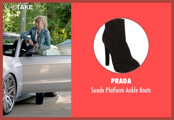 Prada black boots from Need for Speed seen with Imogen Poots (Julia Maddon)
