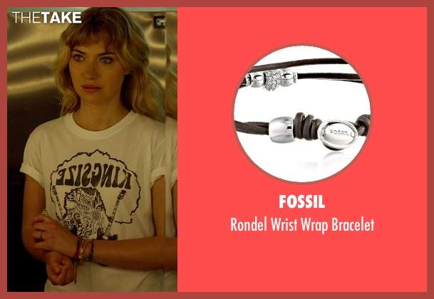 Fossil black bracelet from Need for Speed seen with Imogen Poots (Julia Maddon)