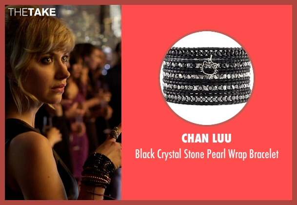 Chan Luu black bracelet from Need for Speed seen with Imogen Poots (Julia Maddon)