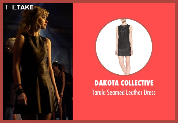 Dakota Collective black dress from Need for Speed seen with Imogen Poots (Julia Maddon)