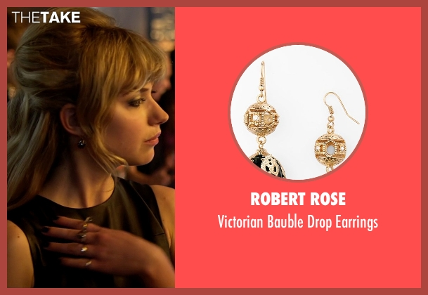 Robert Rose black earrings from Need for Speed seen with Imogen Poots (Julia Maddon)