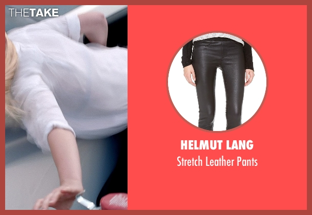Helmut Lang black pants from Need for Speed seen with Imogen Poots (Julia Maddon)