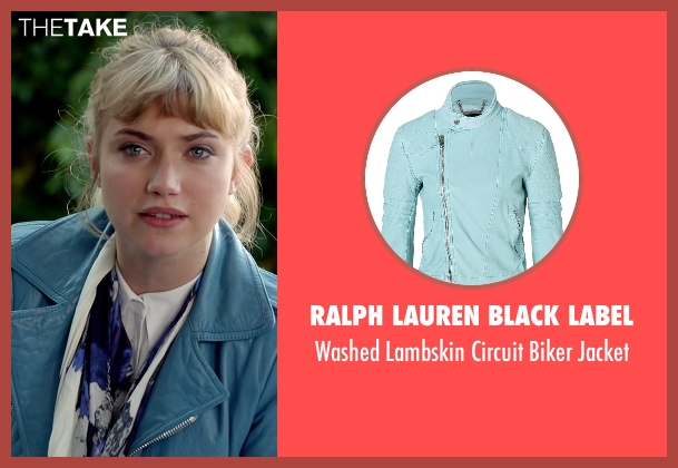 Ralph Lauren Black Label blue jacket from Need for Speed seen with Imogen Poots (Julia Maddon)