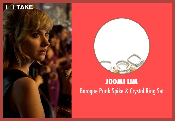 Joomi Lim gold set from Need for Speed seen with Imogen Poots (Julia Maddon)