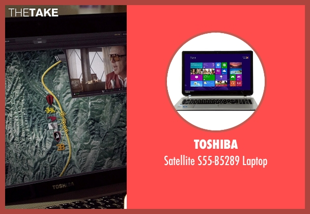 Toshiba laptop from Need for Speed seen with Imogen Poots (Julia Maddon)
