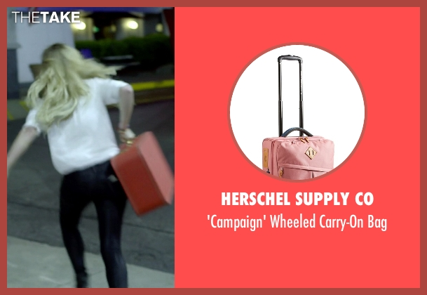 Herschel Supply Co pink bag from Need for Speed seen with Imogen Poots (Julia Maddon)