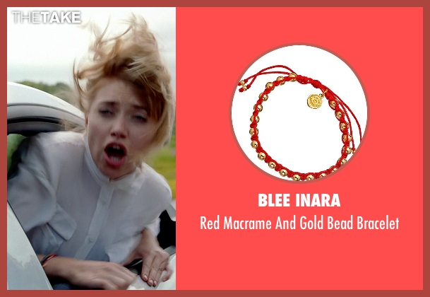 Blee Inara red bracelet from Need for Speed seen with Imogen Poots (Julia Maddon)