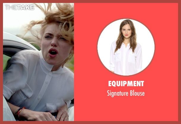 Equipment white blouse from Need for Speed seen with Imogen Poots (Julia Maddon)