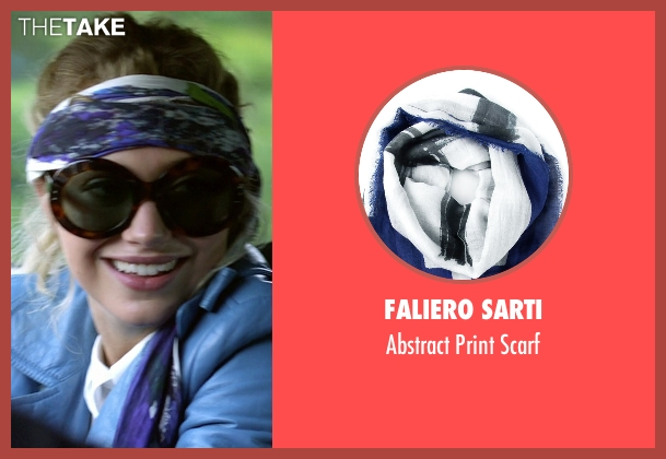 Faliero Sarti white scarf from Need for Speed seen with Imogen Poots (Julia Maddon)