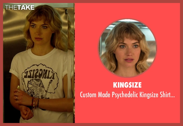Kingsize white shirt from Need for Speed seen with Imogen Poots (Julia Maddon)