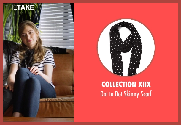 Collection XIIX black scarf from Popstar: Never Stop Never Stopping seen with Imogen Poots (Ashley)