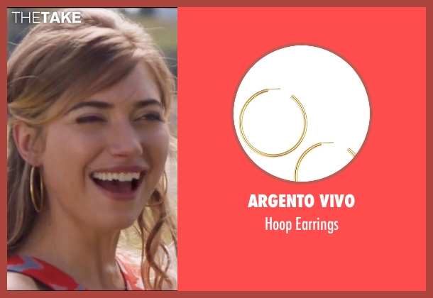 Argento Vivo gold earrings from Popstar: Never Stop Never Stopping seen with Imogen Poots (Ashley)