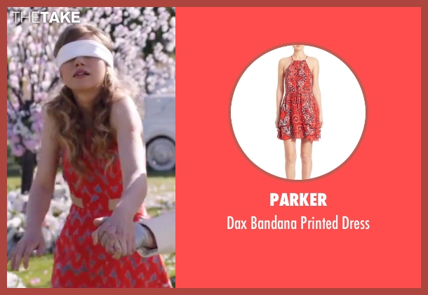 Parker  red dress from Popstar: Never Stop Never Stopping seen with Imogen Poots (Ashley)