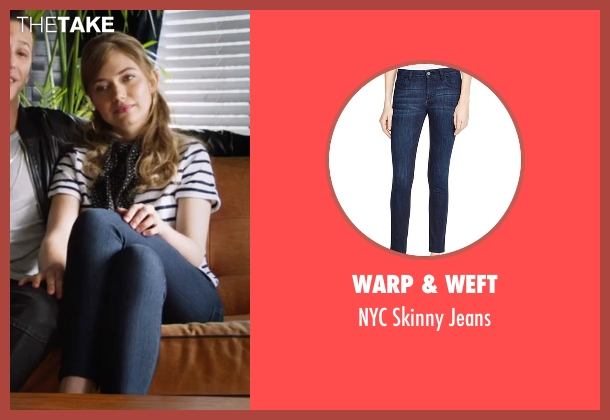 Warp & Weft blue jeans from Popstar: Never Stop Never Stopping seen with Imogen Poots (Ashley)