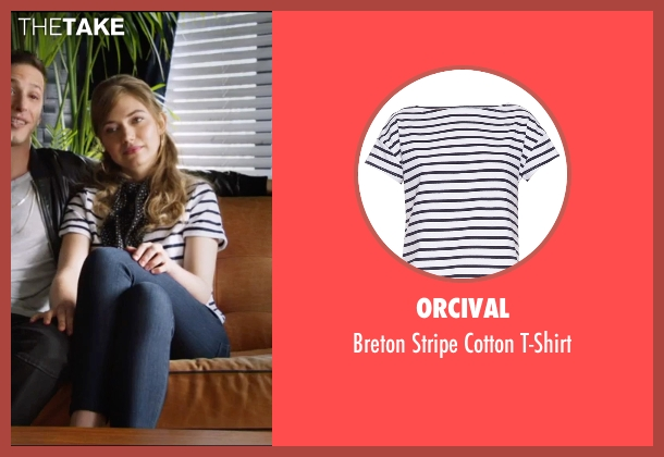 Orcival white t-shirt from Popstar: Never Stop Never Stopping seen with Imogen Poots (Ashley)