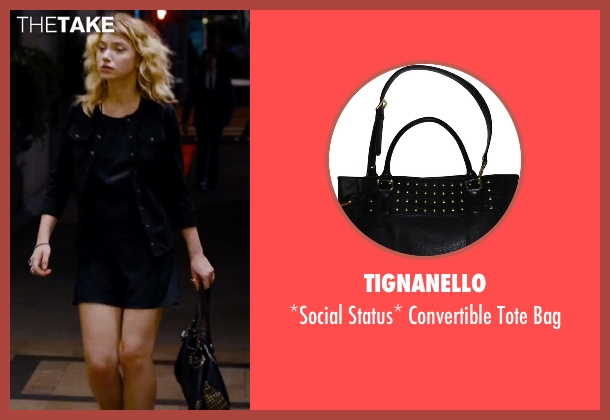 Tignanello black bag from She's Funny That Way seen with Imogen Poots (Isabella Patterson)