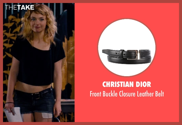 Christian Dior black belt from She's Funny That Way seen with Imogen Poots (Isabella Patterson)