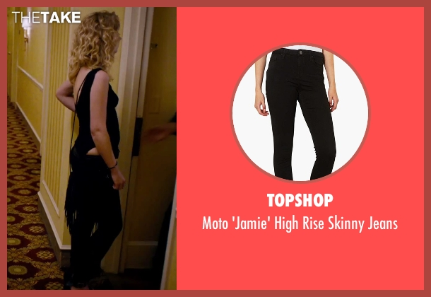 Topshop black jeans from She's Funny That Way seen with Imogen Poots (Isabella Patterson)