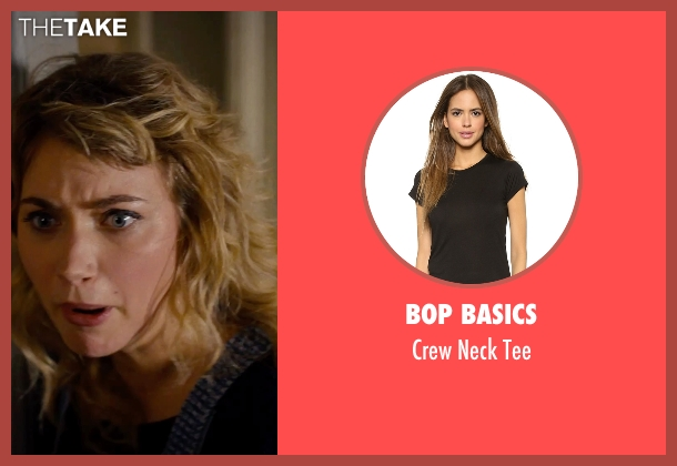 Bop Basics black tee from She's Funny That Way seen with Imogen Poots (Isabella Patterson)