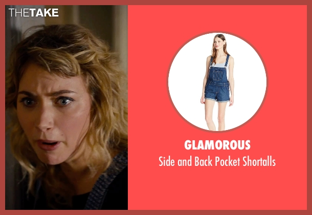 Glamorous blue shortalls from She's Funny That Way seen with Imogen Poots (Isabella Patterson)
