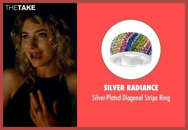 Silver Radiance silver ring from She's Funny That Way seen with Imogen Poots (Isabella Patterson)