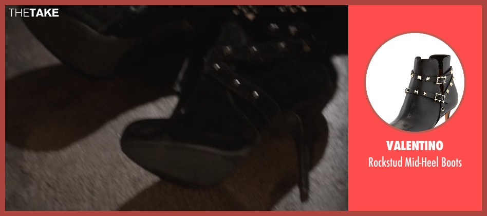 Valentino black boots from That Awkward Moment seen with Imogen Poots (Ellie)