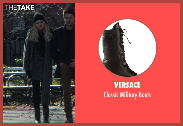 Versace black boots from That Awkward Moment seen with Imogen Poots (Ellie)