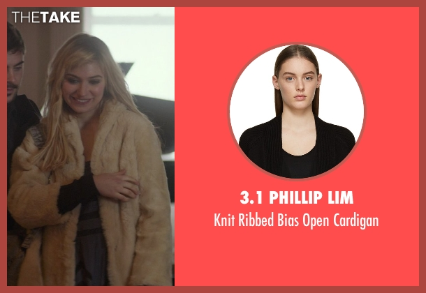 3.1 Phillip Lim black cardigan from That Awkward Moment seen with Imogen Poots (Ellie)