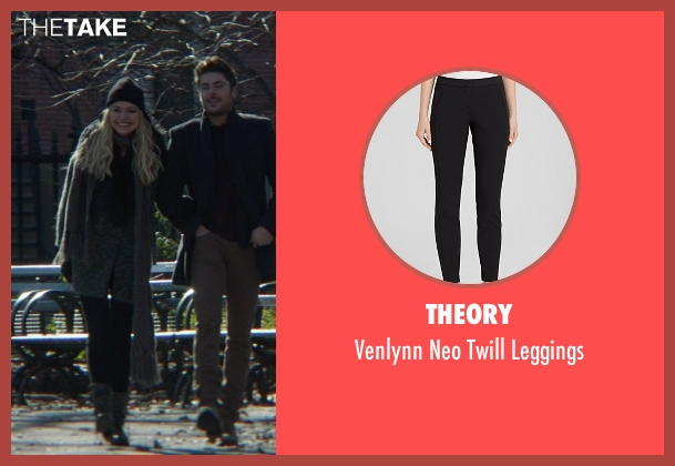 Theory black leggings from That Awkward Moment seen with Imogen Poots (Ellie)