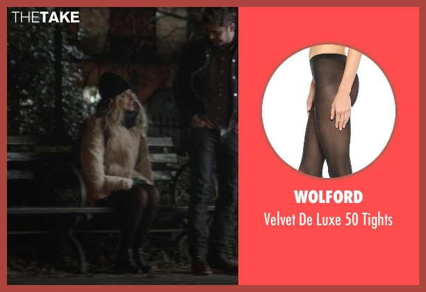 Wolford black tights from That Awkward Moment seen with Imogen Poots (Ellie)