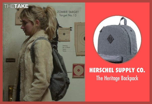 Herschel Supply Co. gray backpack from That Awkward Moment seen with Imogen Poots (Ellie)