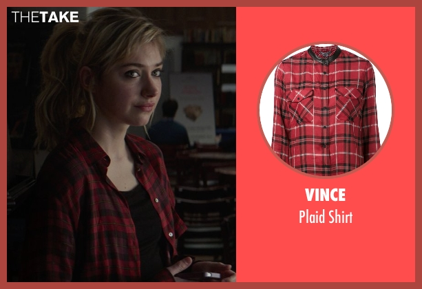 Vince red shirt from That Awkward Moment seen with Imogen Poots (Ellie)