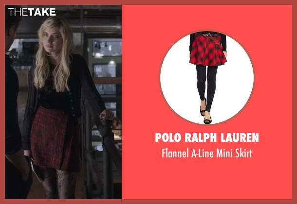 Polo Ralph Lauren red skirt from That Awkward Moment seen with Imogen Poots (Ellie)